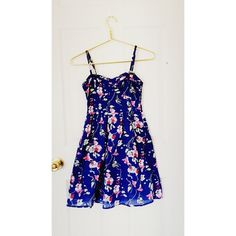 American Eagle Dress ✨ Beautiful NWOT American Eagle blue foral dress with removable/adjustable straps. Worn only 2-3 times, in great condition and such a stylish piece for Spring  Not padded - material is cotton ⚠️ PRICE NEGOTIABLE! American Eagle Outfitters Dresses Midi