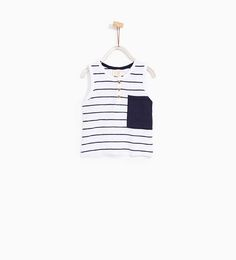 ZARA - COLLECTION - STRIPED SLEEVELESS T-SHIRT