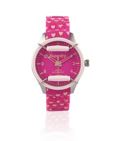 Pink heart wristwatch <3