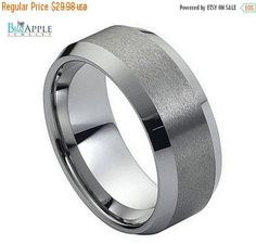 Beautiful 8mm Band His Hers Wedding Engagement Anniversary Unisex Tungsten Carbide Band Hypoallergenic Comfort Fit Ring