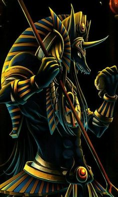 god-of-the-Dead (Anubis) this isn't a dragon, but I just think it's awesome :) Mehr Egyptian Mythology, Ancient Egyptian Art, Egyptian Goddess, Egyptian Symbols, Mythological Creatures, Fantasy Creatures, Mythical Creatures, Anubis Tattoo, Dead Pictures
