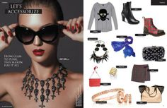 Let's Accessorize in Press The Fashion Magazine featuring an Originals by Andrea necklace.