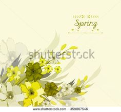 Floral background, spring theme, greeting card