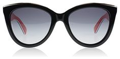 Dolce & Gabbana Cat-Eye Sunglasses in Black on Red - http://www.womansindex.com/dolce-gabbana-cat-eye-sunglasses-in-black-on-red/ #Dolce&Gabbana