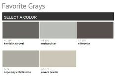 Benjamin Moore's Favorite Grays. Our Favorite grays are classic, refined hues that work well with any color scheme and any décor.