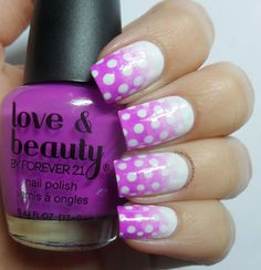 Violet Pink Gradient Dots