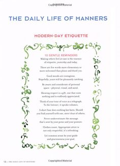 Kate Spade, Classic. Her book Manners re-visits the lost art of Manners!