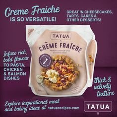 Creme Fraiche, Cream Style, Salmon Dishes, Snack Recipes, Snacks, Cheesecakes, Tart, Chips, Meals