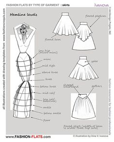 Inspiration for me to use when I'm exploring flat pattern drafting. – skirt … Inspiration for me to use when I'm exploring flat pattern drafting. Fashion Terminology, Fashion Terms, Fashion Styles, Fashion Flats, Diy Fashion, Ideias Fashion, Fashion Hacks, Fashion Sewing, Trendy Fashion