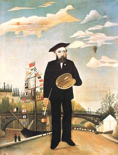 Henri Rousseau, born May 21, 1844 - Self Portrait