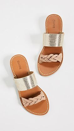 Soludos Metallic Braided Slide Sandals | SHOPBOP