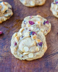 Cranberry & White Chocolate Chip Cookies. Cranberry Bliss Bar meets soft & chewy cookie, loaded with cranberries & white chocolate