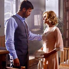 Kurt Seyit (Kivanc Tatlitug) and Sura (Farah Zeynep Abdullah) in Kurt Seyit ve Sura, 2014 Turkish TV series.