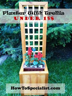 How to build a planter with trellis | HowToSpecialist - How to Build, Step by Step DIY Plans