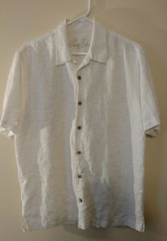 Men's Tommy Bahama white Camp shirt size medium | Clothing, Shoes & Accessories, Men's Clothing, Casual Shirts | eBay!