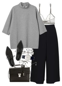 """""""Untitled #8497"""" by nikka-phillips ❤ liked on Polyvore featuring Eres, Yves Saint Laurent, TIBI, Monki, Junghans, Forever 21, Calvin Klein, women's clothing, women's fashion and women"""