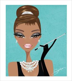 """A tan version of Holly Golightly from, """"Breakfast At Tiffany's."""""""