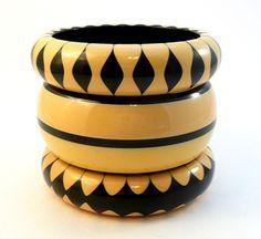 3 Vintage Bakelite Bangle Bracelets