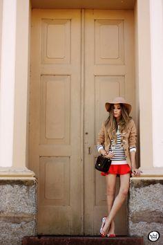 FashionCoolture - 13.05.2014 look du jour striped jumper vintage blazer (1)