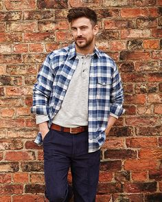 Double TWO Bar Harbour Men's Casual Collection AW16 Casual Shirts, Casual Outfits, Men Casual, Bar Harbour, Polo Shirt, T Shirt, Vintage Inspired, Menswear, Autumn