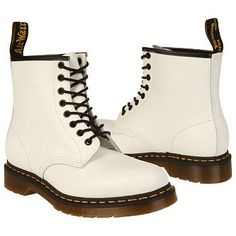 Dr. Martens 1460 8 Eye Boot Boots (White Smooth) - Men's Boots - 8.0 M