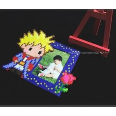 The Little Prince photo frame perler beads by yhk1love
