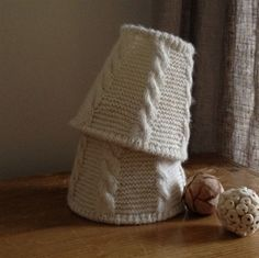 Alpaca wool candle shade
