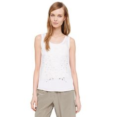 Carrie Tank - Tanks & Camis Knits and Tees from Club Monaco Canada White Sheer Top, White Tank, Pure White, White White, Club Monaco, See Through Tank Tops, Basic Tank Top, Carrie, Clothes