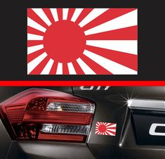 "4"" Japanese Rising Sun Flag Sticker Vinyl Decal Japan JDM Car Hatchback Truck SUV Sticker Macbook pro Air Sticker Fits Honda Acura"
