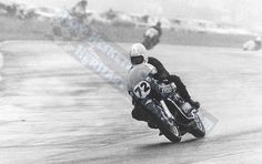 Kork on the H1R on the way to winning the Race of Champions at Hesketh December 1972.