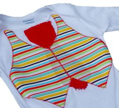 Baby Boy Vest and Tie Bodysuit Baby boy by MendingLifeTogether, $20.00
