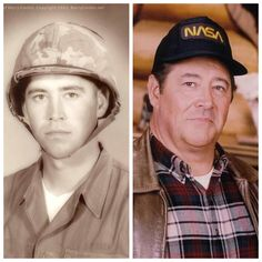 Barry Corbin: at 21 he joined the United States Marine Corps, served two years & then returned to college. He was in the Marine Corp Reserve until 1962 as an assistant Browning Automatic Rifleman. Military Veterans, Military Men, Military History, Military Service, American Soldiers, American Actors, American Veterans, Hollywood Actor, Hollywood Stars