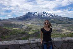 Mount Saint Helens - vulcão localizado 160 quilômetros ao sul de Seattle.