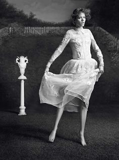 "Freja Beha Erichsen in ""Freja, Le Temps De L'innocence"" by Inez van Lamsweerde & Vinoodh Matadin for Vogue Paris, February 2014"