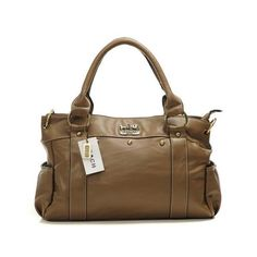 Coach Stud City Medium Brown Satchels DHS Give You The Best feeling!