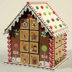 original gingerbread house wooden advent calender christmas home decorating ideas
