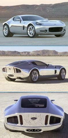 Encore une voiture avec un design à couper le souffle et sans doute un moteur tout aussi resplendissant #Ford #Shelby GR-1 Concept