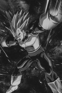 Vegeta wallpaper (Black/White) - Visit now for 3D Dragon Ball Z compression shirts now on sale! #dragonball #dbz #dragonballsuper