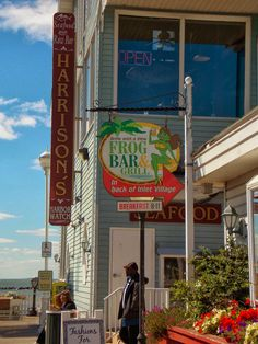 Two delicious dining options in the Inlet Village on the southern most end of the boardwalk in Ocean City #ocmd