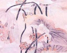 Elegantný dámsky hodvábny šál s lúkou ružových kvetov