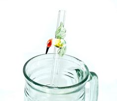 Spring Green Humm Eco Friendly Glass Straw 9MM by Beadtrap on Etsy, $12.00