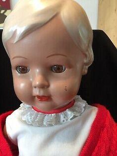 Puppe mit Haaren 16 cm große Stehpuppe bewegliche Minipuppe