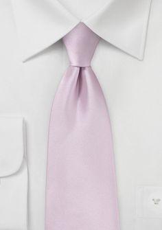 Modische Herrenkrawatte pastellrosa Poly-Faser