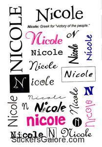 Nicole name | Nicole Name Stickers