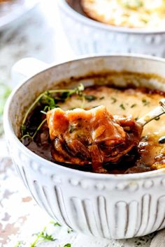 French Oinion Soup (Step by Step Photos, Make Ahead & Freezer Instructions) Best Chicken Soup Recipe, Big Bowl, Beef Broth, French Onion, Caramelized Onions, Soups And Stews, Freezer, Mashed Potatoes, Lunch