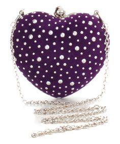 Pink Cosmo Purple Pearl in The Heart Clutch Purple Love, Purple Lilac, All Things Purple, Shades Of Purple, Purple Handbags, Purple Bags, Purple Purse, Purple Shoes, Purple Accessories