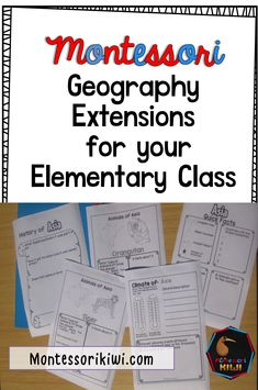 Geography extensions for your Montessori Elementary classroom