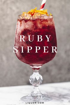 A splash of citrus is all it takes to highlight the floral notes in this gin cocktail. The Ruby Sipper is a refreshing mix of these natural flavors, both perfectly suited for summer. Cocktails How to Make the Ruby Sipper Cocktail Easy Alcoholic Drinks, Drinks Alcohol Recipes, Wine Drinks, Cocktail Drinks, Yummy Drinks, Cointreau Drinks, Gin Cocktail Recipes, Pina Colada, Strawberry Banana Milkshake