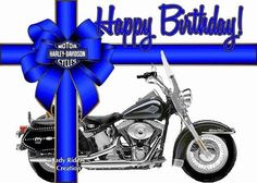 Enjoy your day Happy Birthday Biker, Happy Birthday Harley Davidson, Happy Birthday Ecard, Birthday Poems, Happy Birthday Pictures, Cowboy Birthday, Happy Birthday Greeting Card, Minnie Birthday, Birthday Messages