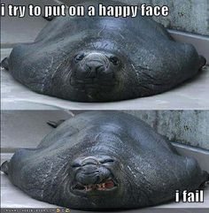 I try to put on a happy face